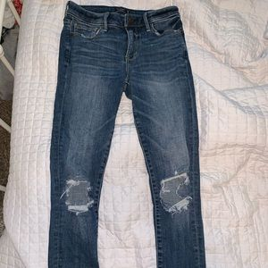 Abercrombie & Fitch Distressed Skinny Jeans